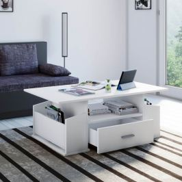 Konferenční stolek Junata, bílý