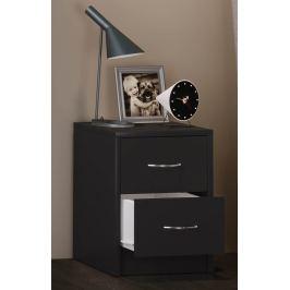 Noční stolek Boxal mini, černý
