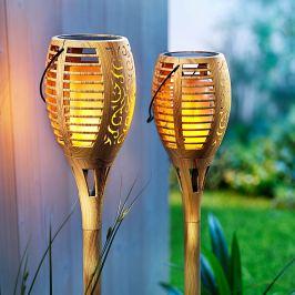 Solární pochodeň Flame Bambus, 2 ks